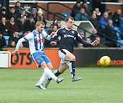 Kilmarnock&rsquo;s Craig Slater and Dundee&rsquo;s Paul McGowan - Kilmarnock v Dundee, Ladbrokes Premiership at Rugby Park<br /> <br />  - &copy; David Young - www.davidyoungphoto.co.uk - email: davidyoungphoto@gmail.com