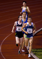 Jan Breznik and Primoz Kobe during men 5000 m at Slovenian National Championships in athletics 2010, on July 17, 2010 in Velenje, Slovenia. (Photo by Vid Ponikvar / Sportida)