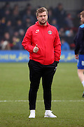 Charlton Athletic Manager Karl Robinson giving thumbs up during the EFL Sky Bet League 1 match between AFC Wimbledon and Charlton Athletic at the Cherry Red Records Stadium, Kingston, England on 11 February 2017. Photo by Matthew Redman.