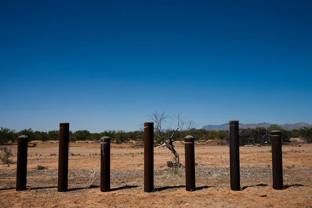 The border fence near Sasabe, Sonora and Sasabe, Arizona.