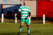 Selby Hands of Hope Patron Gareth Ellis scores a goal and celebrates to make the score 2-0 during the Annual Selby Hands of Hope Charity match between Selby Hands of Hope FC and Malt Shovel FC at The Fairfax Stadium, Selby Town FC, Selby, United Kingdom on 28 December 2017. Photo by Simon Davies.