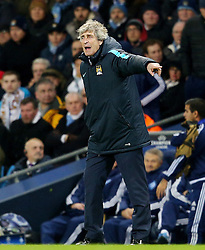 Manchester City Manager, Manuel Pellegrini shouts - Mandatory byline: Matt McNulty/JMP - 15/03/2016 - FOOTBALL - Etihad Stadium - Manchester, England - Manchester City v Dynamo Kyiv - Champions League - Round of 16