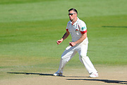 Lancashire's Simon Kerrigan during the Specsavers County Champ Div 1 match between Somerset County Cricket Club and Lancashire County Cricket Club at the County Ground, Taunton, United Kingdom on 4 May 2016. Photo by Graham Hunt.