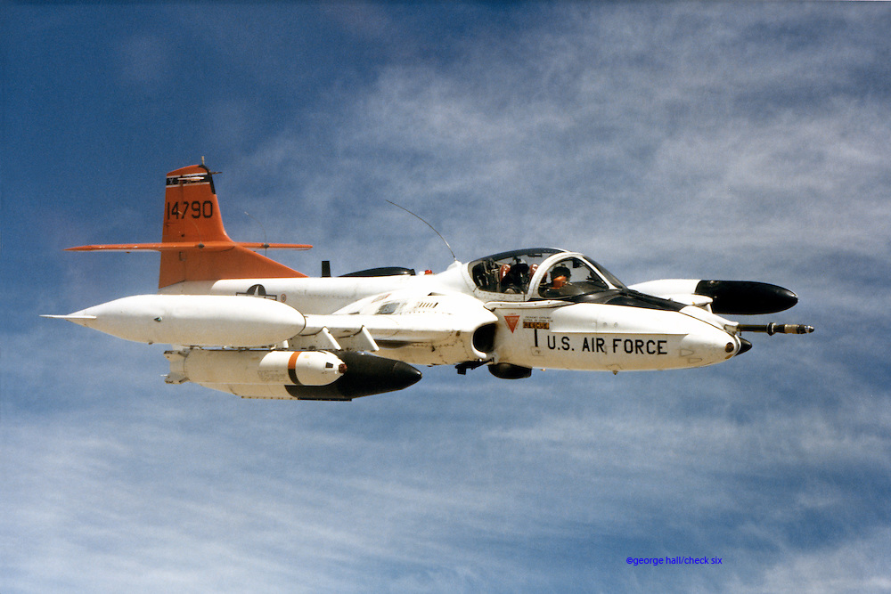 Edwards test T-37 Tweet in A-37<br /> configuration (ground attack)