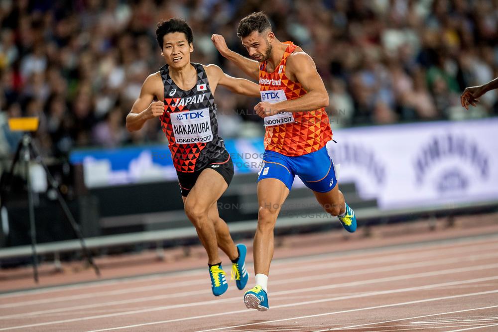 11-08-2017 IAAF World Championships Athletics day 8, London<br /> Eelco Sintnicolaas NED (tienkamp) in actie op de 400 m
