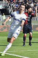 Cagliari 05-03-2017 Sadio San'Elia Football Calcio Serie A 2016/2017 Cagliari - Inter foto Antonello Sammarco/Image Sport/Insidefoto<br /> nella foto: esultanza gol Ivan Perisic Inter Goal celebration