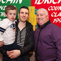 Paul Hickey with his Son Shane and his grandson Sean. Both Paul and Shane were presented with awards at the Kilmurry Ibrickane GAA Club Centenary Closing Ceremony,