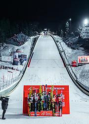 19.01.2019, Wielka Krokiew, Zakopane, POL, FIS Weltcup Skisprung, Zakopane, Herren, Teamspringen, Siegerehrung, im Bild 2. Platz Oesterreich, Sieger Deutschland, 3. Platz Polen // 2nd placed Austria Winner Team Germany 3rd Poland during the winner Ceremony of the men's team event of FIS Ski Jumping world cup at the Wielka Krokiew in Zakopane, Poland on 2019/01/19. EXPA Pictures © 2019, PhotoCredit: EXPA/ JFK