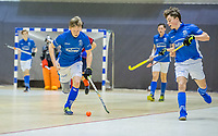 ROTTERDAM  - Jens de Vuijst (kampong).  finale NK  zaalhockey Kampong JB1-Nijmegen JB1 (10-3).   COPYRIGHT  KOEN SUYK