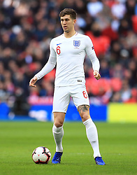 England's John Stones during the UEFA Nations League, Group A4 match at Wembley Stadium, London. PRESS ASSOCIATION Photo. Picture date: Sunday November 18, 2018. See PA story SOCCER England. Photo credit should read: Mike Egerton/PA Wire. RESTRICTIONS: Use subject to FA restrictions. Editorial use only. Commercial use only with prior written consent of the FA. No editing except cropping.