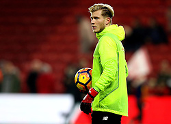 Loris Karius of Liverpool warms up after being dropped from the starting line up - Mandatory by-line: Robbie Stephenson/JMP - 14/12/2016 - FOOTBALL - Riverside Stadium - Middlesbrough, England - Middlesbrough v Liverpool - Premier League