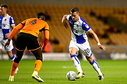 Billy Bodin of Bristol Rovers takes on Alfred N'Diaye of Wolverhampton Wanderers - Mandatory by-line: Robbie Stephenson/JMP - 19/09/2017 - FOOTBALL - Molineux - Wolverhampton, England - Wolverhampton Wanderers v Bristol Rovers - Carabao Cup