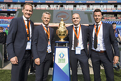 Erwin Zeinstra, Bjorn Kuipers, Sander van Roekel, Pol van Boekel during the Dutch Toto KNVB Cup Final match between AZ Alkmaar and Feyenoord on April 22, 2018 at the Kuip stadium in Rotterdam, The Netherlands.