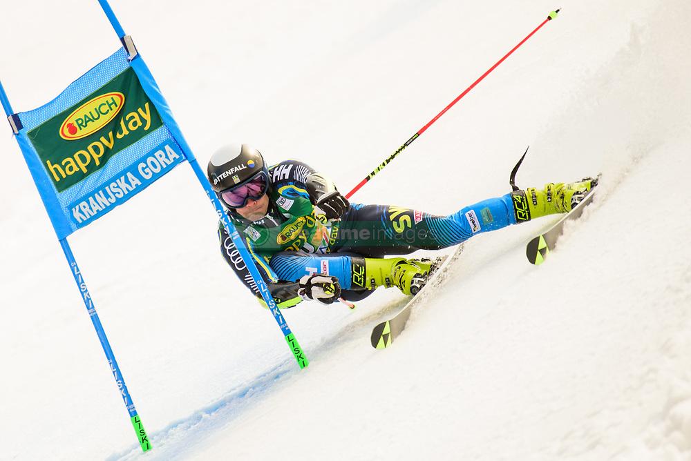 March 9, 2019 - Kranjska Gora, Kranjska Gora, Slovenia - Gustav Lundbaeck of Sweden in action during Audi FIS Ski World Cup Vitranc on March 8, 2019 in Kranjska Gora, Slovenia. (Credit Image: © Rok Rakun/Pacific Press via ZUMA Wire)