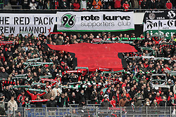 28.02.2010, AWD Arena, Hannover, GER, Hannover 96 vs VfL Wolfsburg, Spieltag 24, im Bild  Hanover Fans zeigen ein Rotes Trikot. EXPA Pictures © 2010, PhotoCredit: EXPA/ nph/  Arend / for Slovenia SPORTIDA PHOTO AGENCY.