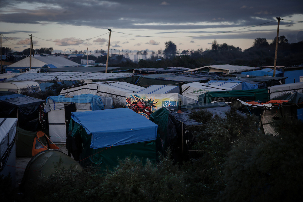 Migrants in Calais &quot;Jungle&quot; camp as tensions and anxiety rise two days before the scheduled closure of the camp and relocations of the refugees to be implement by the French authorities.<br /> 0ctober 22, 2016.