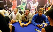 DESCRIZIONE : Championnat de France Media Day Palais des congres Ligue Nationale de Basket <br /> GIOCATORE : David MELODY (JDA DijonXavier COROSINE (JSF Nanterre) Andrew ALBICY  (Paris-Levallois)<br /> SQUADRA : <br /> EVENTO : lnb<br /> GARA : <br /> DATA : 20/09/2012<br /> CATEGORIA : Basketball Homme LNB<br /> SPORT : Basketball<br /> AUTORE : JF Molliere<br /> Galleria : France Basket 2012-2013 Reportage<br /> Fotonotizia : LNB Basket Pro A<br /> Predefinita :