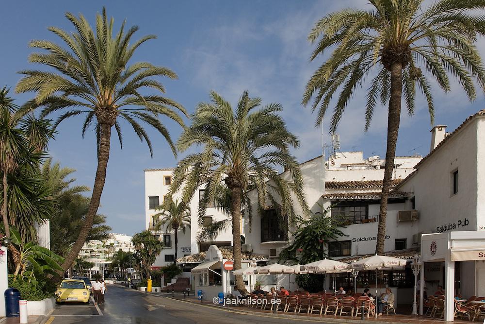 Street in Puerto Banus, Costa Del Sol, Spain