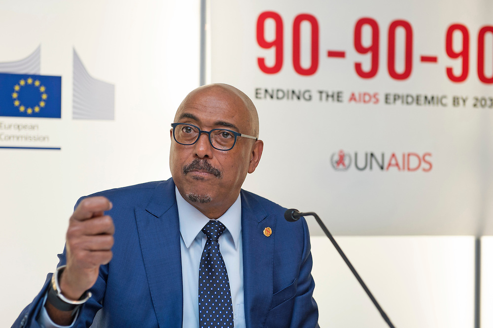 03 June 2015 - Belgium - Brussels - European Development Days - EDD - Health - 90-90-90 - An ambitious treatment target to help end the AIDS epidemic - Michel Sidibe , Executive Director © European Union