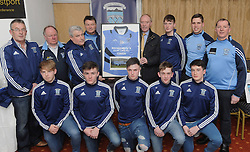 Westport Gaa 2016 Minor team coaches made a presentation to team sponsor Stephen Broderick Broderick Electric at the Bord na nOg evening.<br />