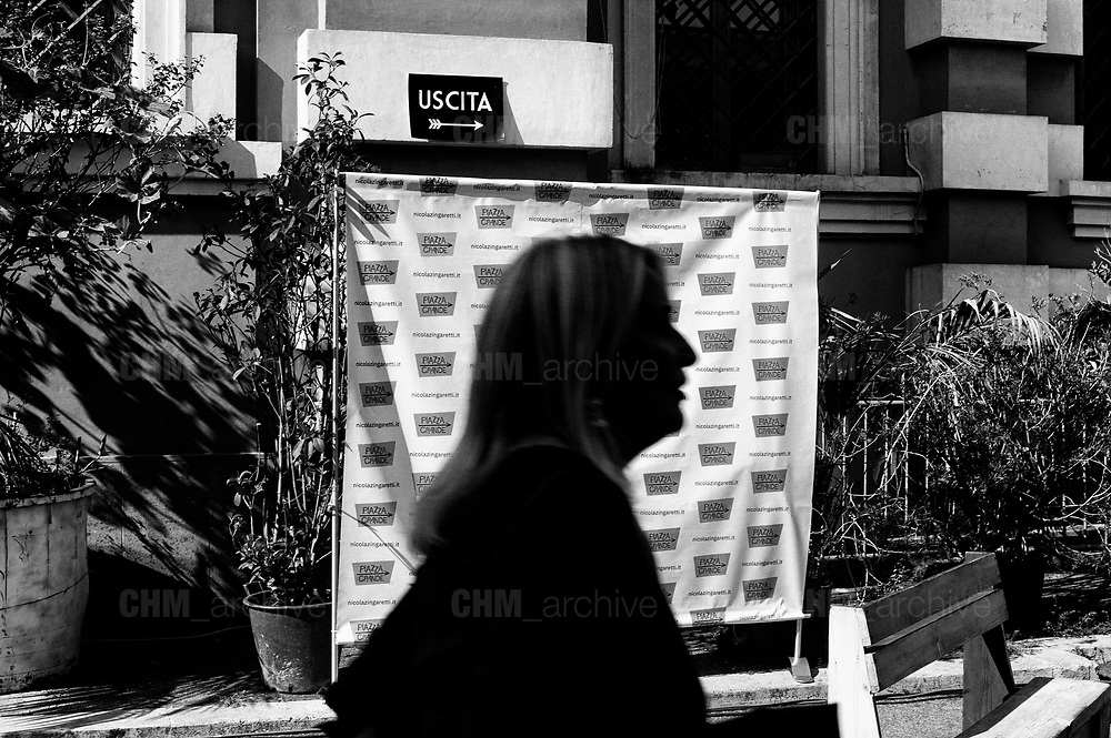 Piazza Grande, the initiative to announce Nicola Zingaretti candidate of the Democratic Party congress. Rome 14 October 2018. Christian Mantuano / OneShot