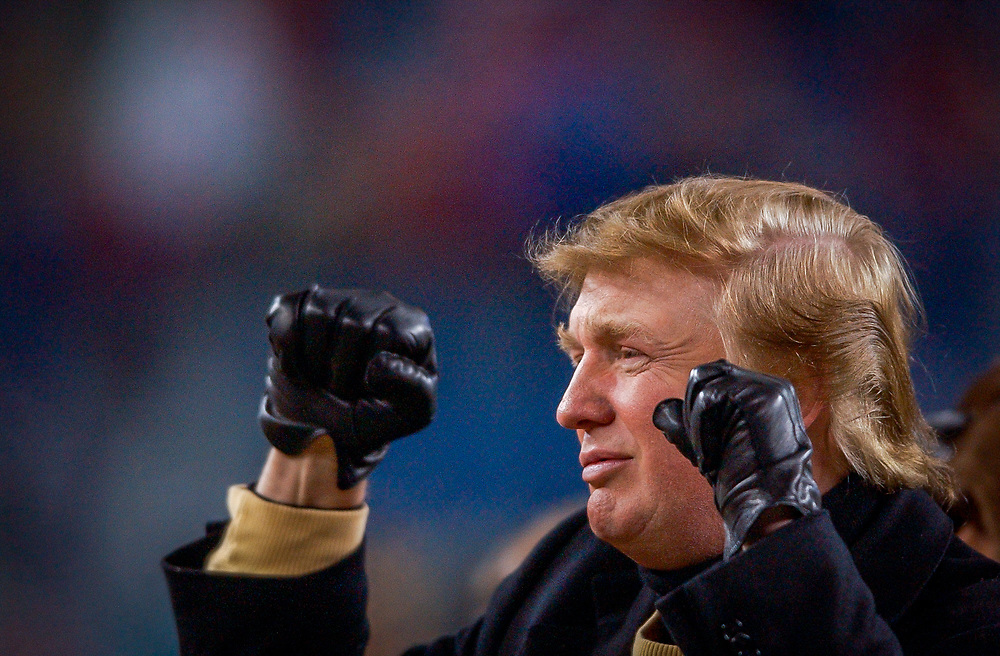 (1/10/04Foxboro, MA) New England Patriots vs the Tennessee Titans. Donald Trump on sidelines.(011004patsmjs-staff photo by Michael Seamans.)