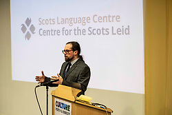 Pictured: Dr Michael Dempster, Director of Scots language Centre<br /><br />Deputy First Minister John Swinney headed to perth today to help with a Digital Scots Map launch. Scots Language Centre director Dr Michael Dempster, and children from Robert Douglas Memorial Primary School and Perth High School help qwith the developme nt and launch of Gaun hame, the first Scots language digital map of Scotland<br /><br />Ger Harley | EEm 20 September 2019