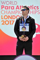 17/07/2017 : Jason Smyth (IRL), T13, Men's 100m, Gold Medal, at the 2017 World Para Athletics Championships, Olympic Stadium, London, United Kingdom