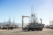 The municipal dock in Port Orford, Oregon