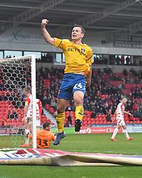 Charlton Athletic's Josh Cullen celebrates his team's opening goal