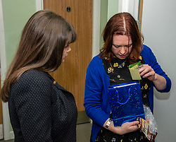 Pictured: Clare Haughey and Sam Anderson, director at The Junction during a tour of the facilities<br />