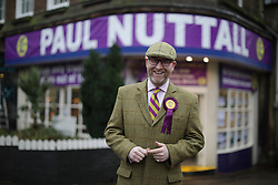 © Licensed to London News Pictures . 28/01/2017 . Stoke-on-Trent , UK .  PAUL NUTTALL at the Ukip shop. UKIP formally launch their campaign in the by-election in the constituency of Stoke-on-Trent Central , at their new campaign shop at 1 Piccadilly in Stoke , with candidate - and party leader - Paul Nuttall . The seat was vacated when Tristram Hunt resigned . Photo credit : Joel Goodman/LNP