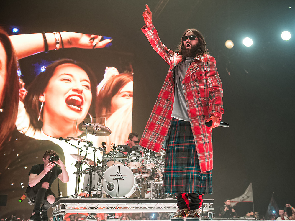 30 Seconds To Mars in concert at The SSE Hydro, Glasgow, Great Britain 25th March 2018