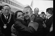 Dana Arrives after Eurovision Success.23/03/1970