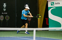 Rok Komac in action during Slovenian National Tennis Championship 2019, on December 21, 2019 in Medvode, Slovenia. Photo by Vid Ponikvar/ Sportida