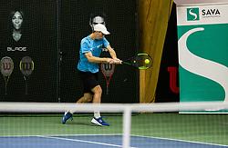 Rok Komac in action during Slovenian National Tennis Championship 2019, on December 21, 2019 in Medvode, Slovenia. Photo by Vid Ponikvar/ Sportida