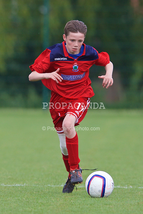 NEWPORT, WALES - Wednesday, May 27, 2015: North WPL Academy Boys' Ted Williams during the Welsh Football Trust Cymru Cup 2015 at Dragon Park. (Pic by David Rawcliffe/Propaganda)