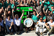 Hungarian Grand Prix 2013<br /> our best selection from Award winning Photographer Darren Heath.<br /> Mercedes celebrate after winning<br /> ©Darren Heath/Exclusivepix