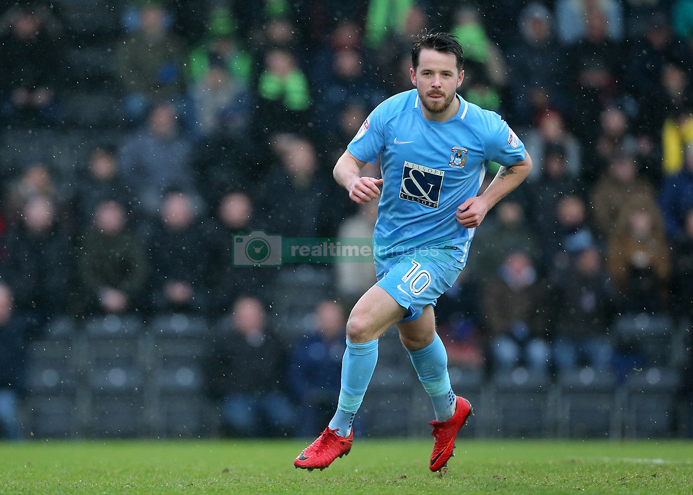 Coventry City's Marc McNulty scores his sides first goal of the game from the spot