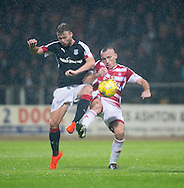 Dundee&rsquo;s Rory Loy and Hamilton&rsquo;s Darian MacKinnon - Dundee v Hamilton Academical in the Ladbrokes Scottish Premiership at Dens Park<br /> <br />  - &copy; David Young - www.davidyoungphoto.co.uk - email: davidyoungphoto@gmail.com