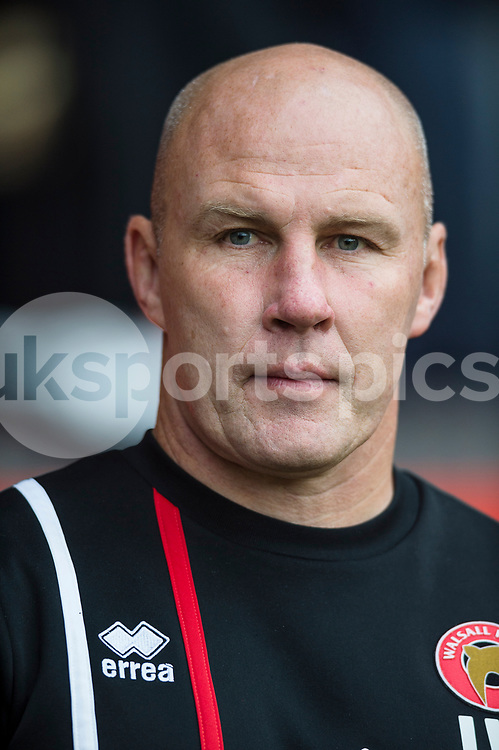 Jon Whitney the Walsall manager ahead of the EFL Sky Bet League 1 match between Walsall and Shrewsbury Town at the Banks's Stadium, Walsall, England on 7 October 2017. Photo by Darren Musgrove.