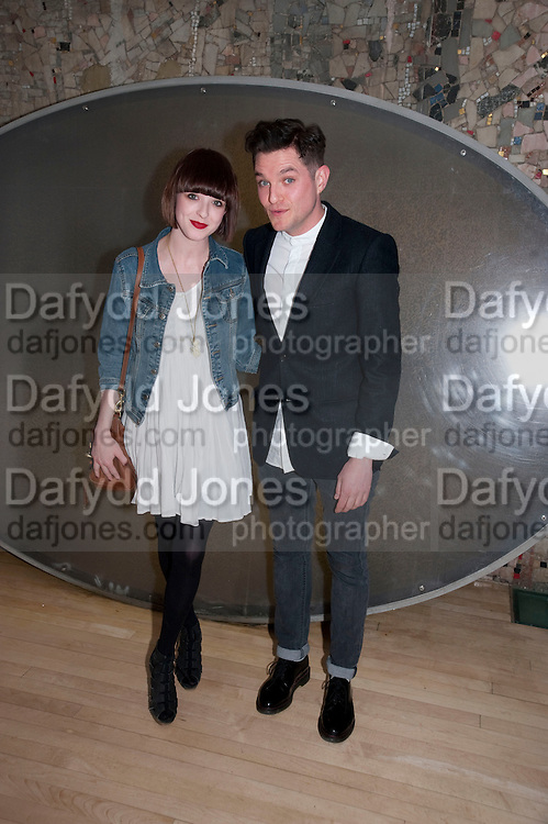 SYBILLA FINDLAY; MATHEW HORNE, An evening at Sanderson to celebrate 10 years of Sanderson, in aid of Clic Sargent. Sanderson Hotel. 50 Berners St. London. W1. 27 April 2010 *** Local Caption *** -DO NOT ARCHIVE-© Copyright Photograph by Dafydd Jones. 248 Clapham Rd. London SW9 0PZ. Tel 0207 820 0771. www.dafjones.com.<br /> SYBILLA FINDLAY; MATHEW HORNE, An evening at Sanderson to celebrate 10 years of Sanderson, in aid of Clic Sargent. Sanderson Hotel. 50 Berners St. London. W1. 27 April 2010