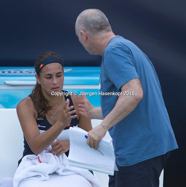 Monica Puig (PUR)<br /> <br /> Tennis - Dubai Tennis Championships 2015 -  WTA -   - Dubai -  - United Arab Emirates  - 16 February 2015. <br /> &copy; Juergen Hasenkopf