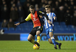 Solly March of Brighton and Hove Albion and Jonathan Grounds of Birmingham City challenge for the ball - Mandatory byline: Paul Terry/JMP - 28/11/2015 - Football - Falmer Stadium - Brighton, England - Brighton v Birmingham City - Sky Bet Championship