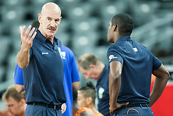 Toon van Helfteren, head coach of Netherlands during basketball match between Slovenia vs Netherlands at Day 4 in Group C of FIBA Europe Eurobasket 2015, on September 8, 2015, in Arena Zagreb, Croatia. Photo by Vid Ponikvar / Sportida