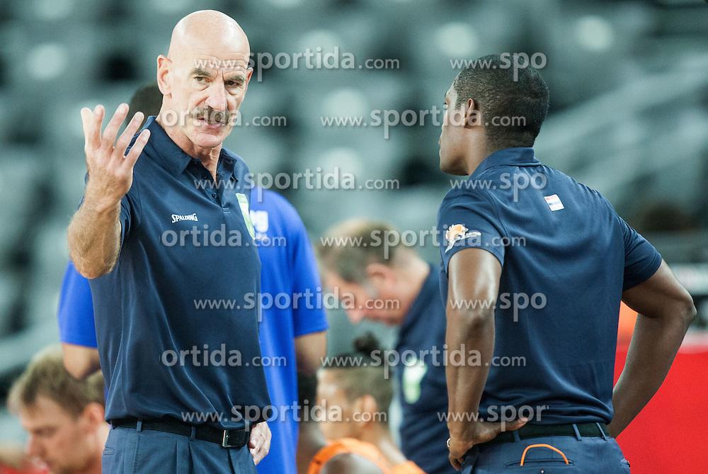 Toon van Helfteren, head coach of Netherlands during basketball match between Slovenia vs Netherlands at Day 4 in Group C of FIBA Europe Eurobasket 2015, on September 8, 2015, in Arena Zagreb, Croatia. Photo by Vid Ponikvar / Sportida