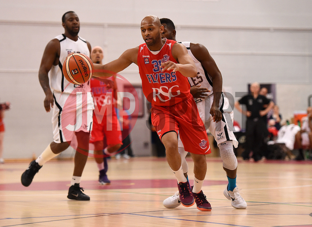 Cardell McFarland of Bristol Flyers  - Photo mandatory by-line: Joe Meredith/JMP - Mobile: 07966 386802 - 10/10/2015 - BASKETBALL - SGS Wise Arena - Bristol, England - Bristol Flyers v Newcastle Eagles - British Basketball League