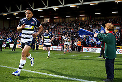 Bristol Rugby run through a The Guard of Honour- Mandatory byline: Robbie Stephenson/JMP - 25/05/2016 - RUGBY UNION - Ashton Gate Stadium - Bristol, England - Bristol Rugby v Doncaster Knights - Greene King IPA Championship Play Off FINAL 2nd Leg.