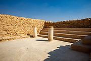 The synagogue at Masada national park, Israel