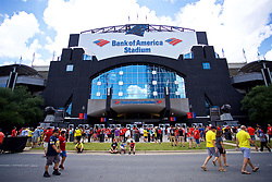 CHARLOTTE, USA - Sunday, July 22, 2018: Supporters outside the ground before a preseason International Champions Cup match between Borussia Dortmund and Liverpool FC at the  Bank of America Stadium. (Pic by David Rawcliffe/Propaganda)